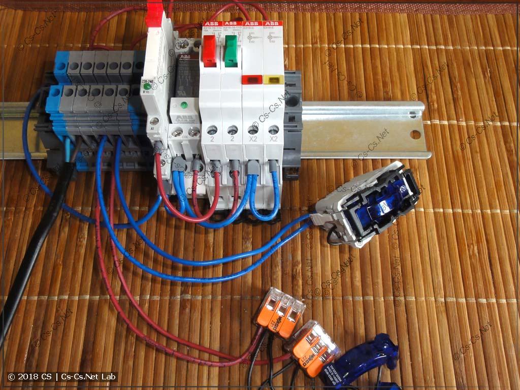 Подготовка к тестированию кнопок с подсветкой и реле развязки