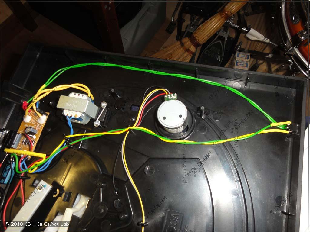 Пачтим проигрыватель: сделал аппаратную кнопку питания (по 230V сети)