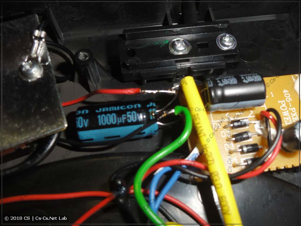 Пачтим проигрыватель: добавил ещё один конденсатор фильтра блока питания