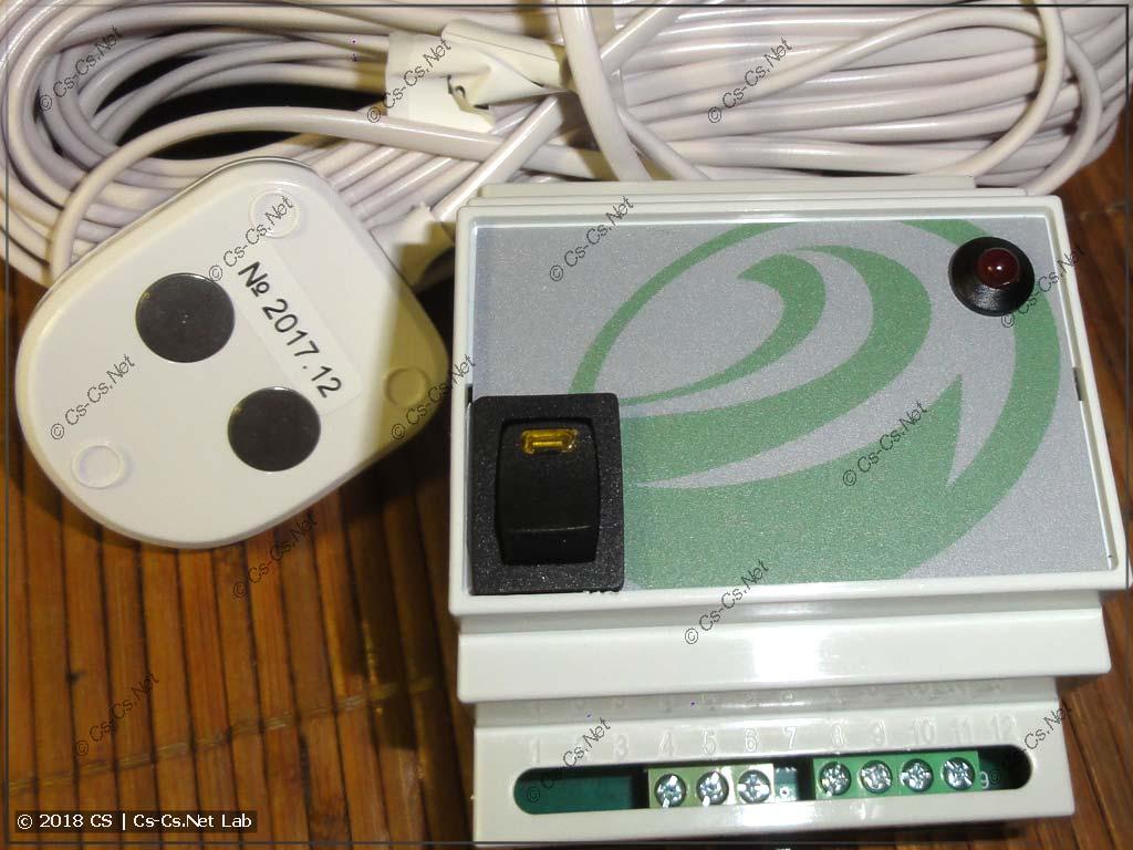 Датчик и модуль защиты Нептун на DIN-рейку (примитивный)