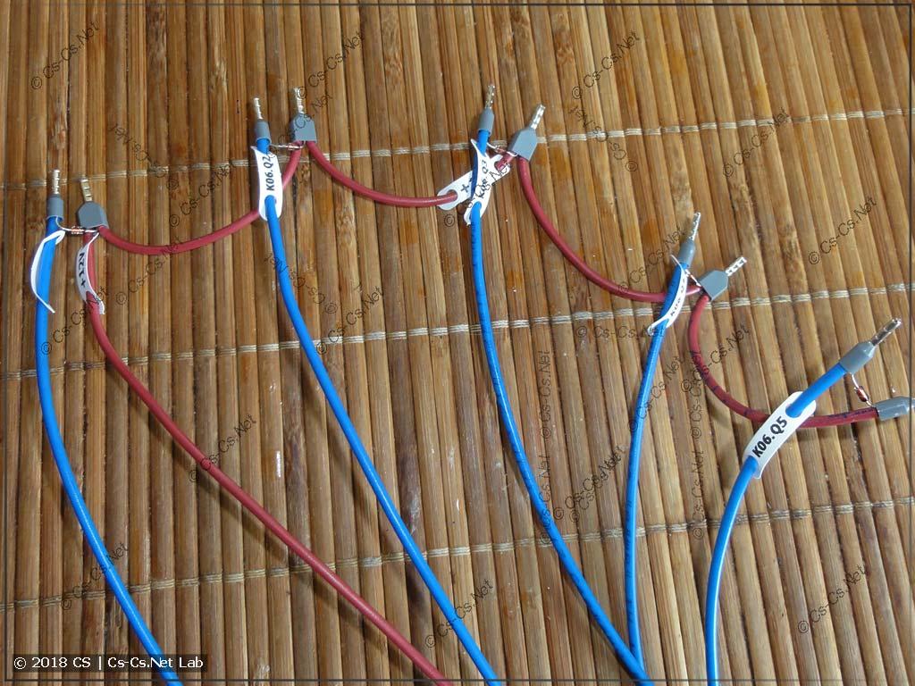 Провода с шунтирующими диодами для подключения реле