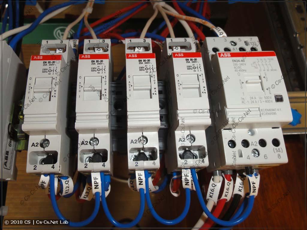 Контакторы с ручным управлением EN для управления нагрузками