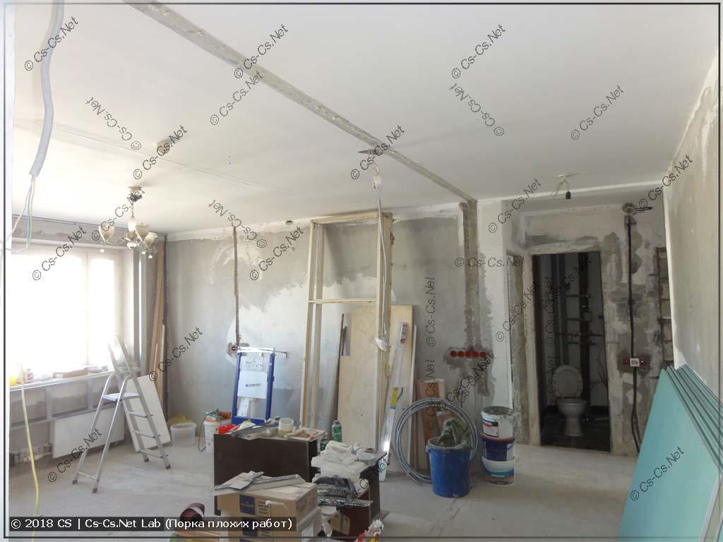 Квартира заказчика в Балашихе в процессе ремонта