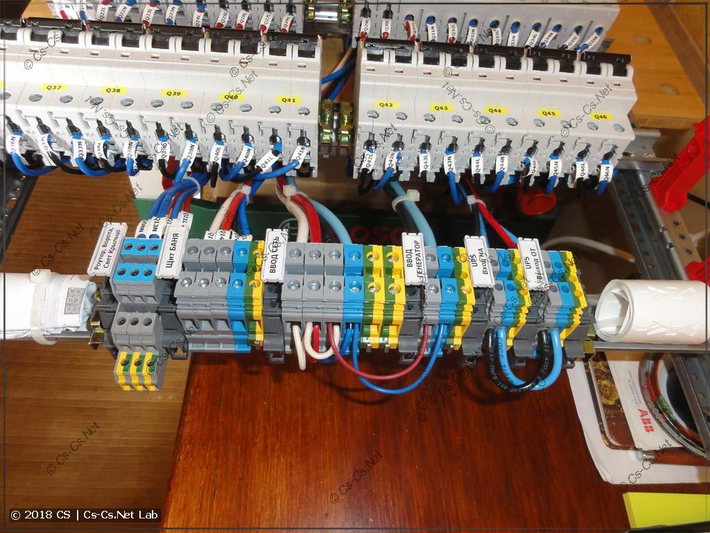 Клеммы для подключения кабелей снизу (нестандартное расположение)