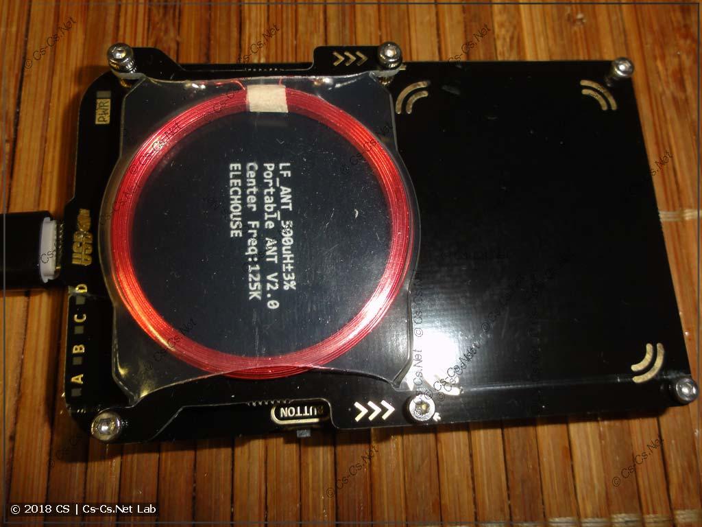RFID-ридер ProxxMark 3 и его антенны (Hi, Lo)