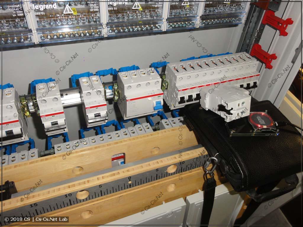 Считаем метку автомата DS201 C10 из нового щита