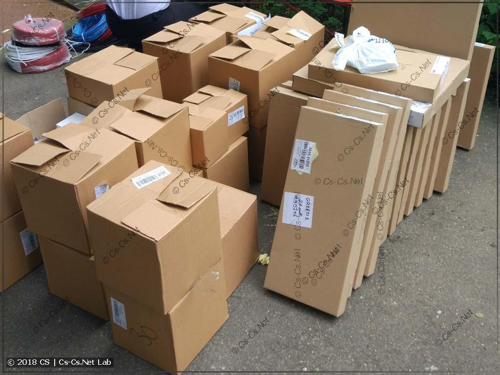 Начало приёма доставки на улице (проверка всего товара)