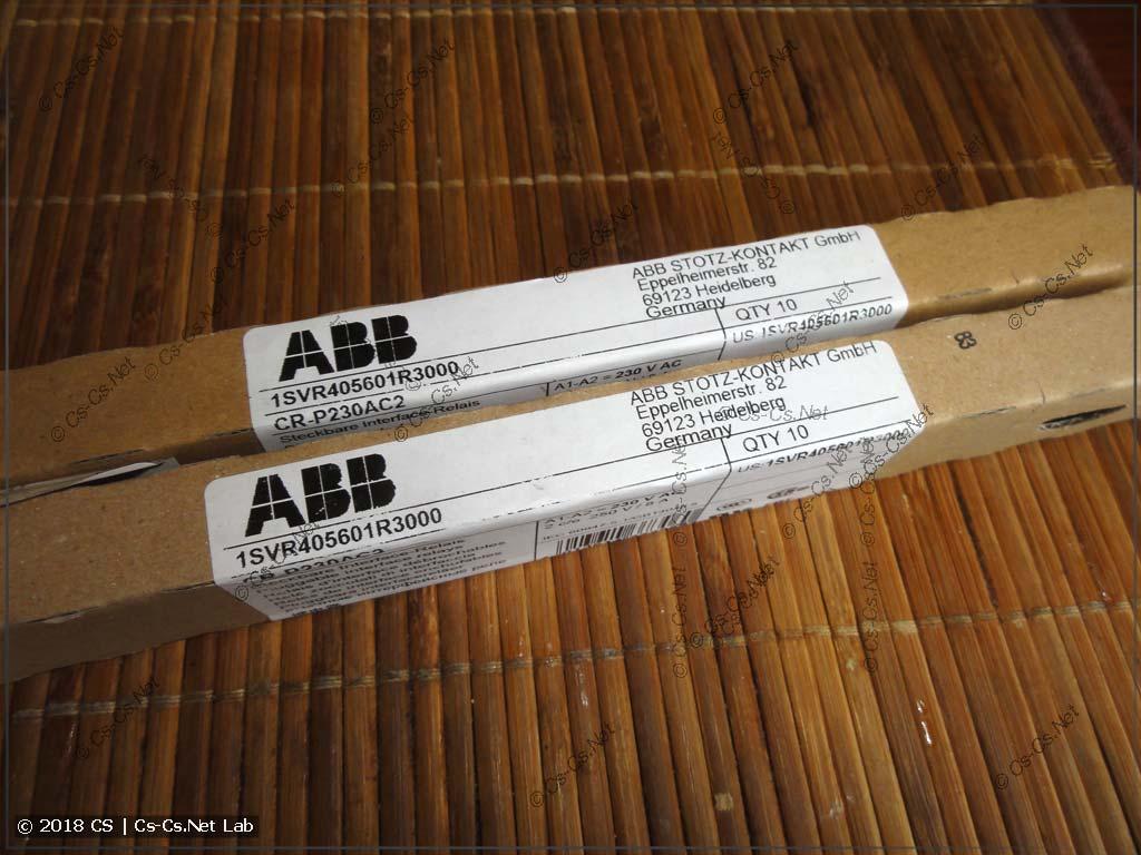 Заводские упаковки промежуточных реле CR-P