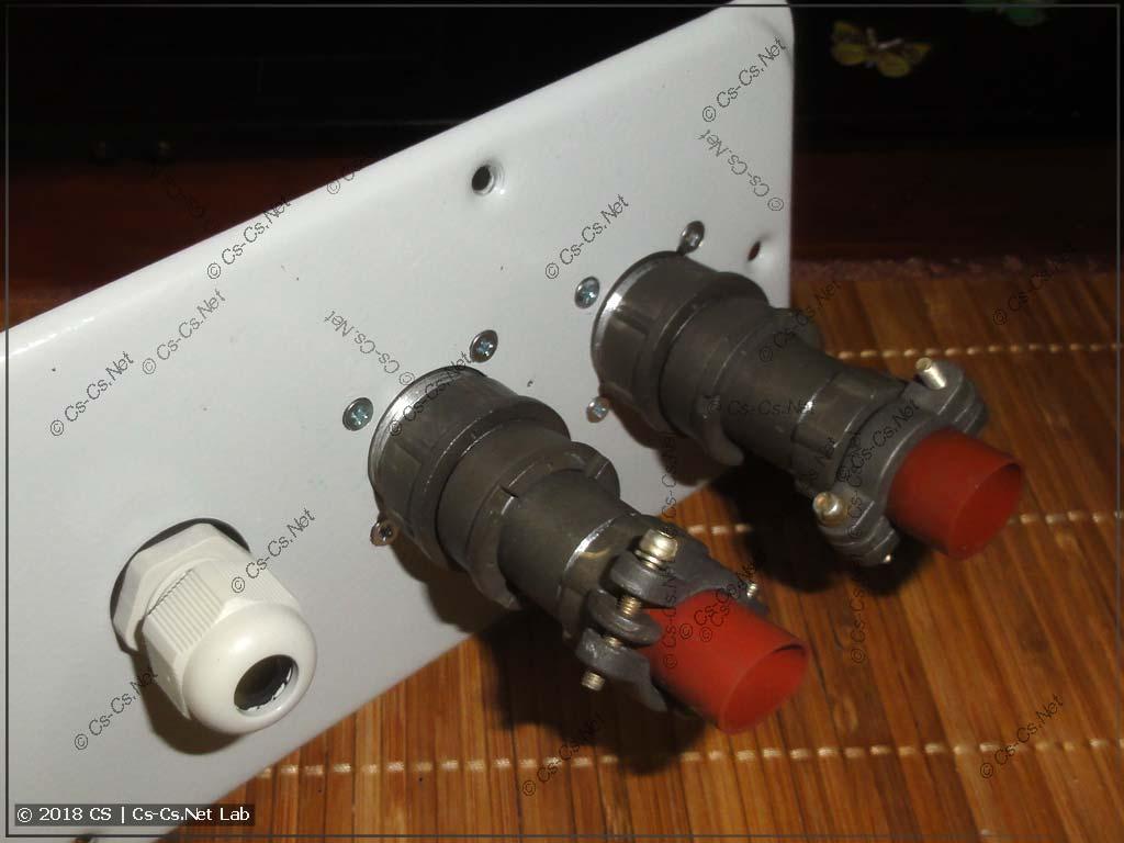 Суровые разъёмы 2РМ для подключения кабелей сигналов генератора и инвертора