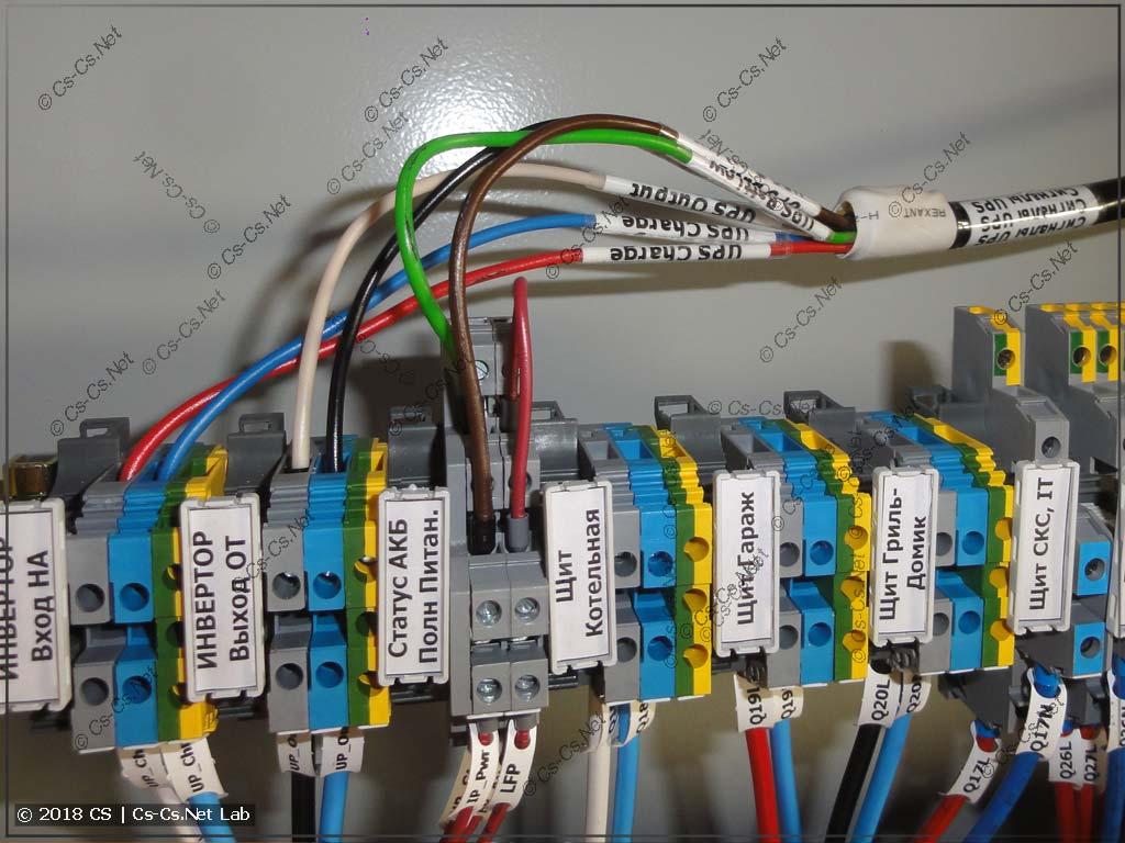 Подключение тестового кабеля (шлейфа) в один из щитов для тестирования его IPM