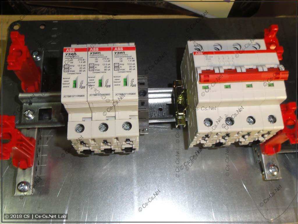 Используем CombiLine-модуль MBG101 для пломбировки рубильника и УЗИП