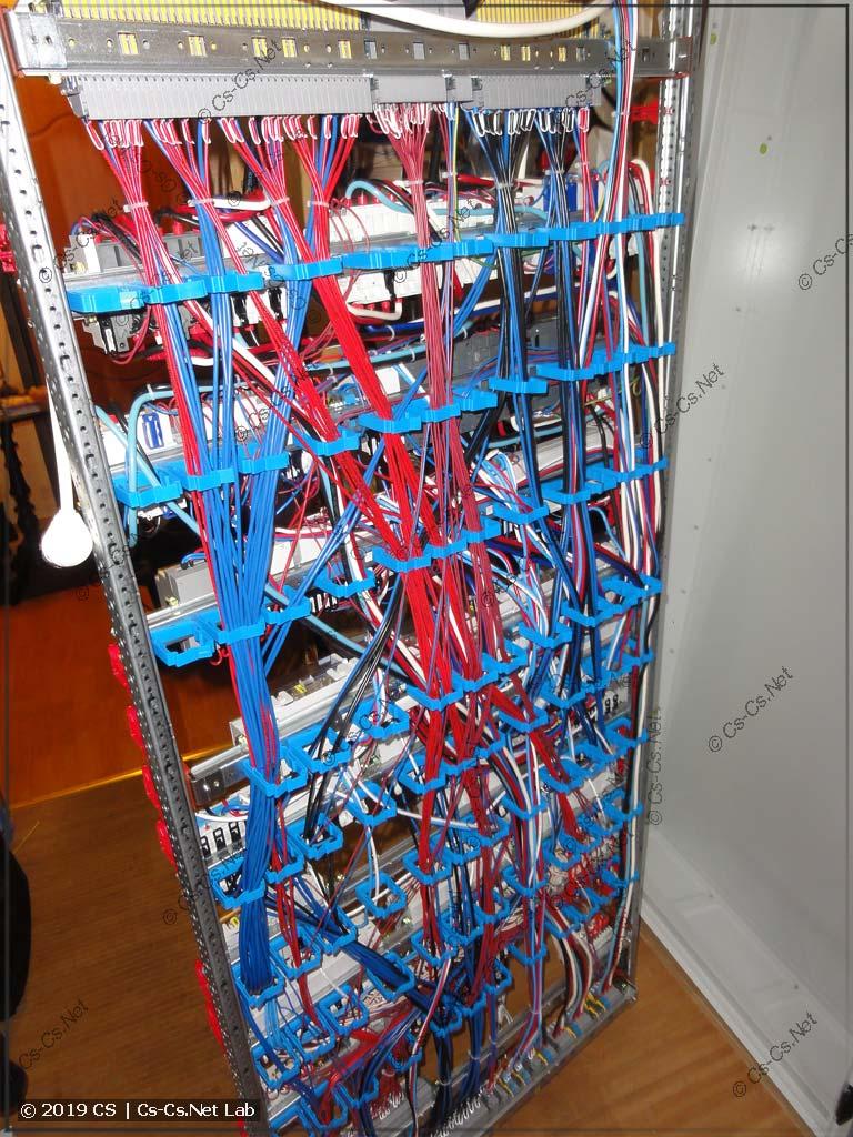 Провода сзади шкафов крепятся при помощи держателей ED45P10