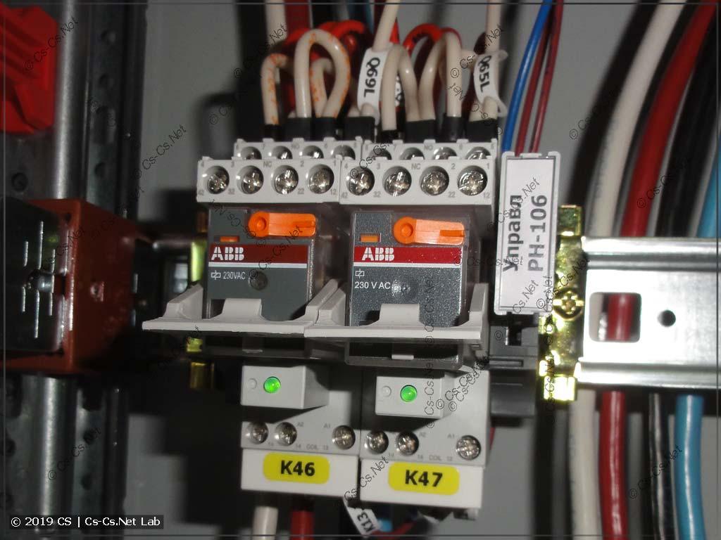 Реле ABB CR-M (с ручным управлением) для каналов реле времени и фотореле