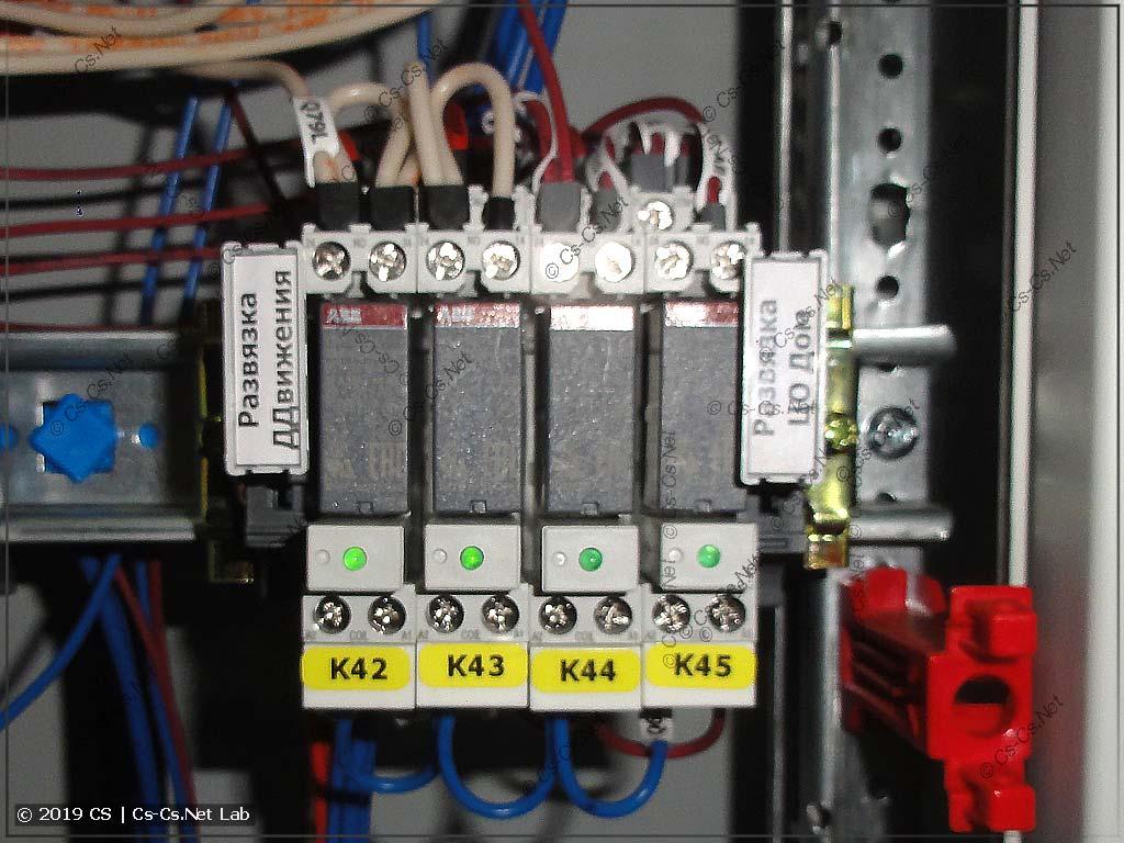 Промежуточные реле ABB CR-P для центрального выключения света в доме по группам