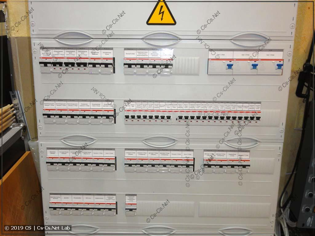 Закрываем пластроны: часть модульки отходящих линий