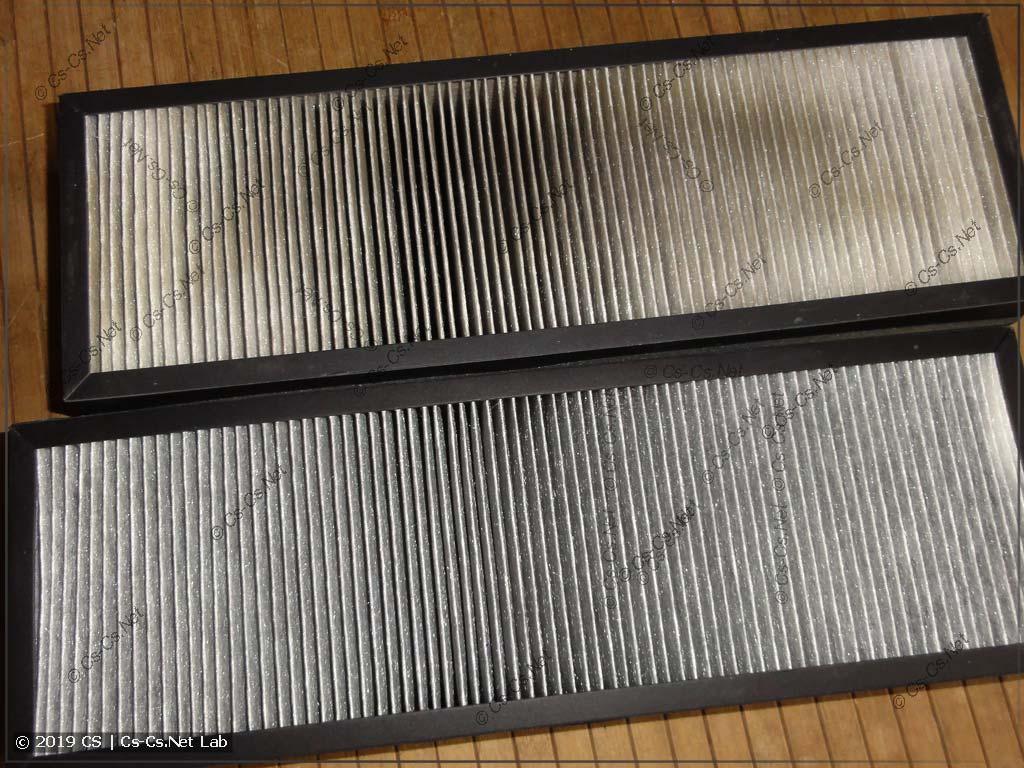 Фильтры грубой очистки после пылесосенья и пары месяцев использования