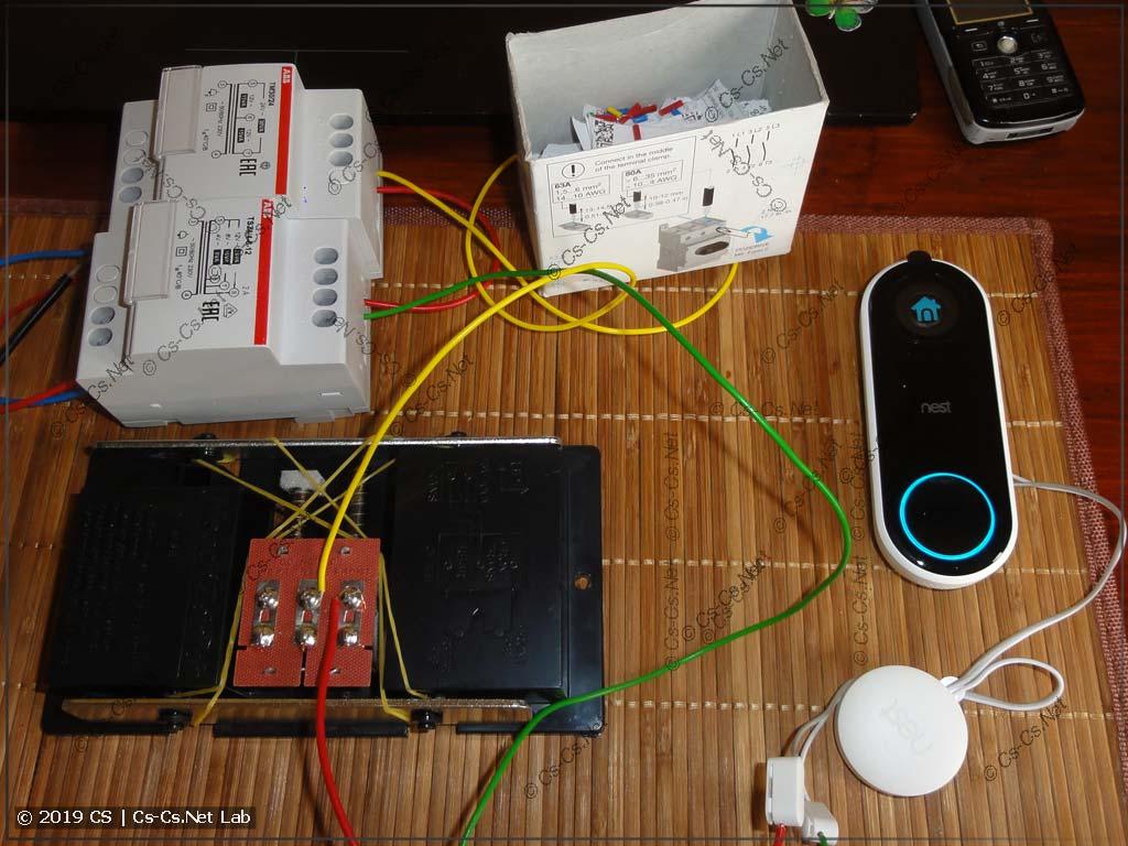 Рабочая схема для запуска Nest Hello (используются звонковые трансформаторы ABB)