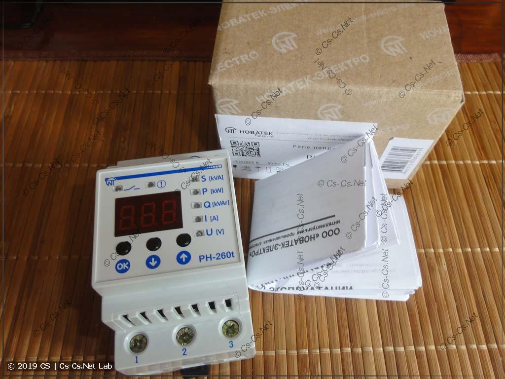 Реле защиты от аварийного напряжения и контроля тока НоваТек РН-260t