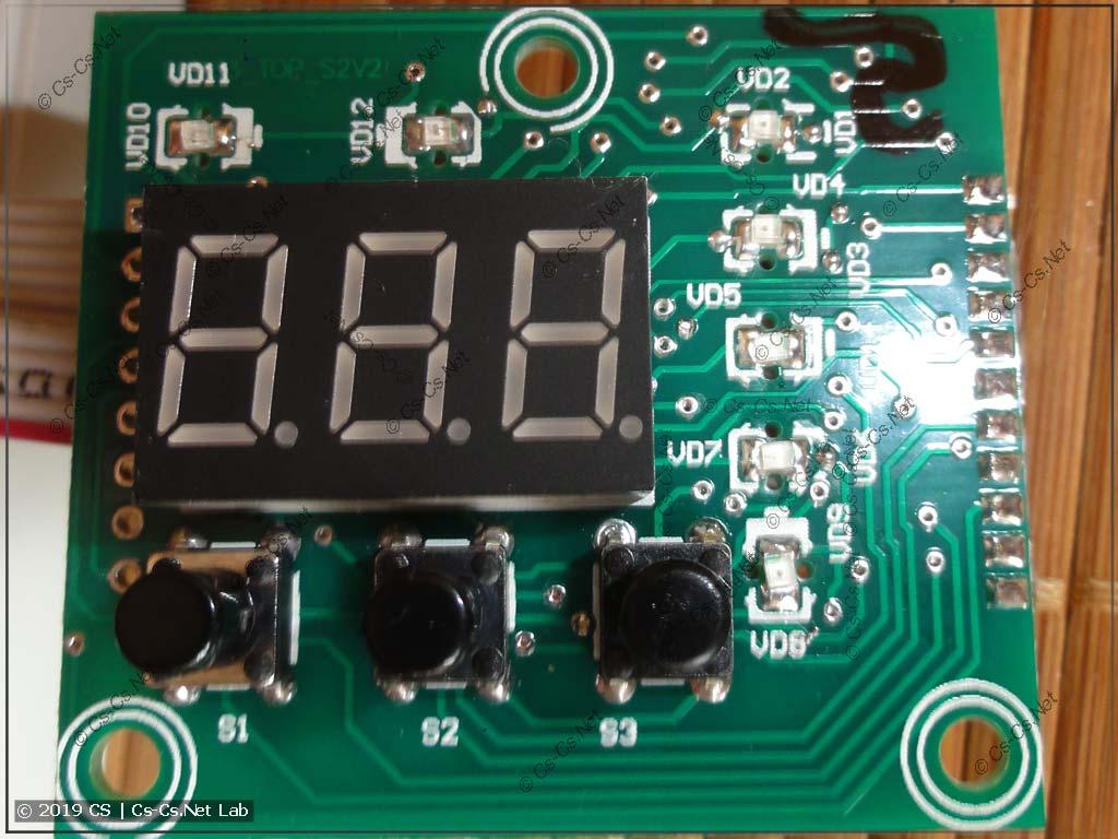 Главная плата РН-260t и светодиоды индикации режимов