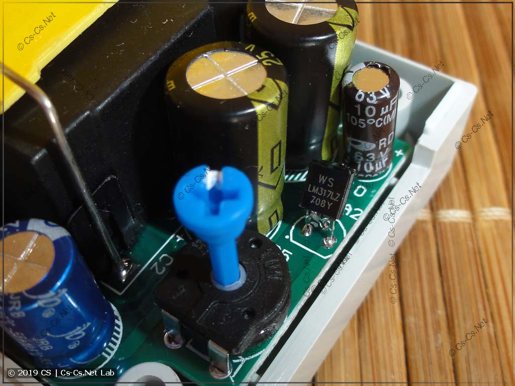 Резистор замка настроек и стабилизатор питания LM317