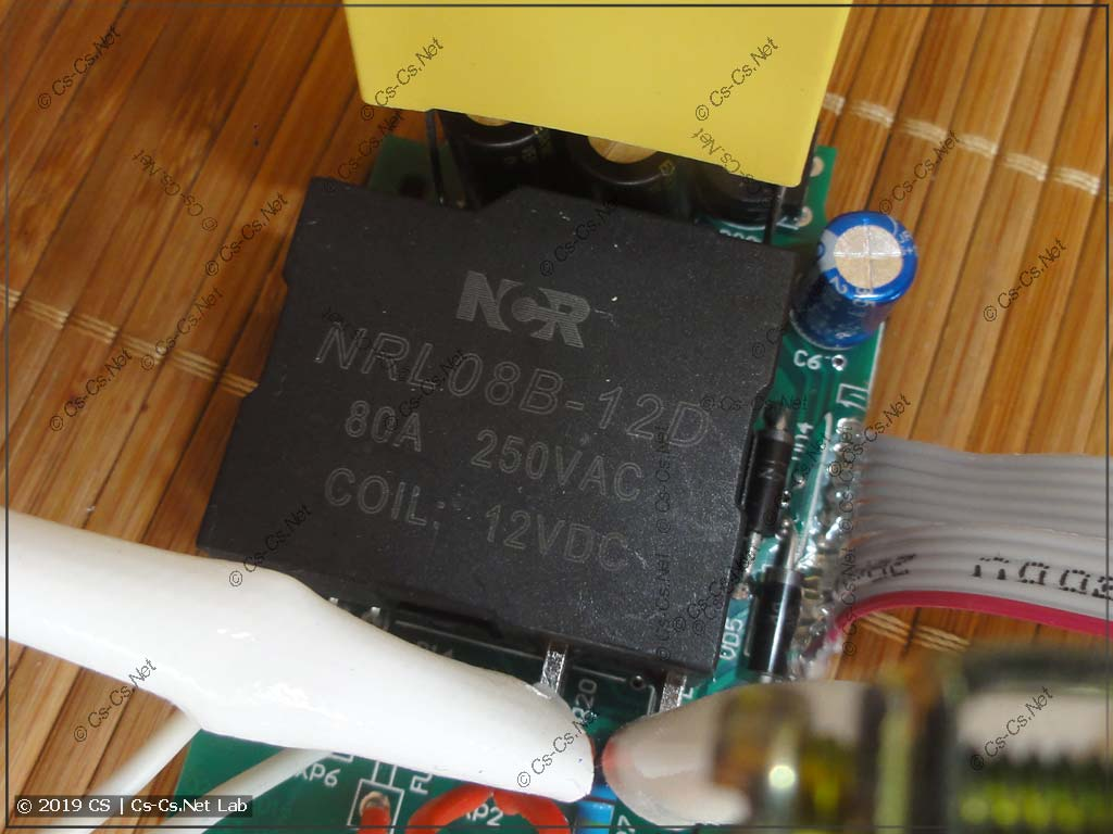 Силовое реле на 80А, стандартное для Меандра и Новатек
