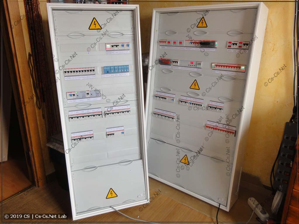 Два щита для дома в Арнеево: котельной (ГРЩ) и дома (с автоматикой света на Eltako)