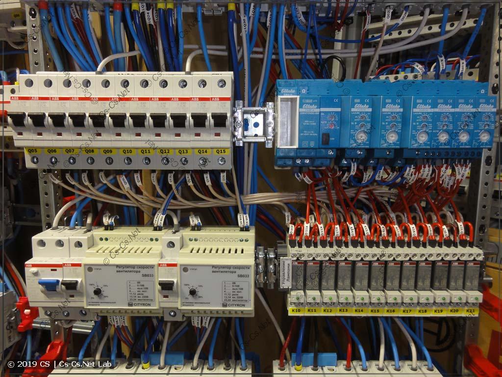 Щит дома и автоматика управления светом на радиомодулях Eltako