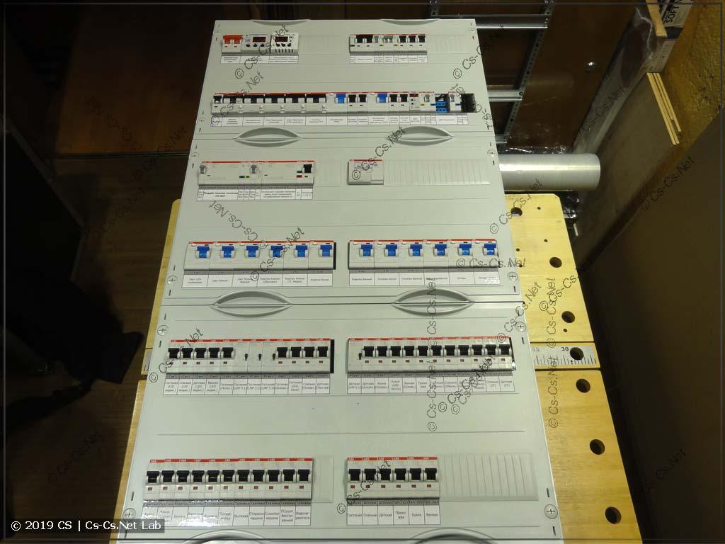 Щит в Говорово на автоматике Z-Wave (и с простой автоматикой вентиляции)