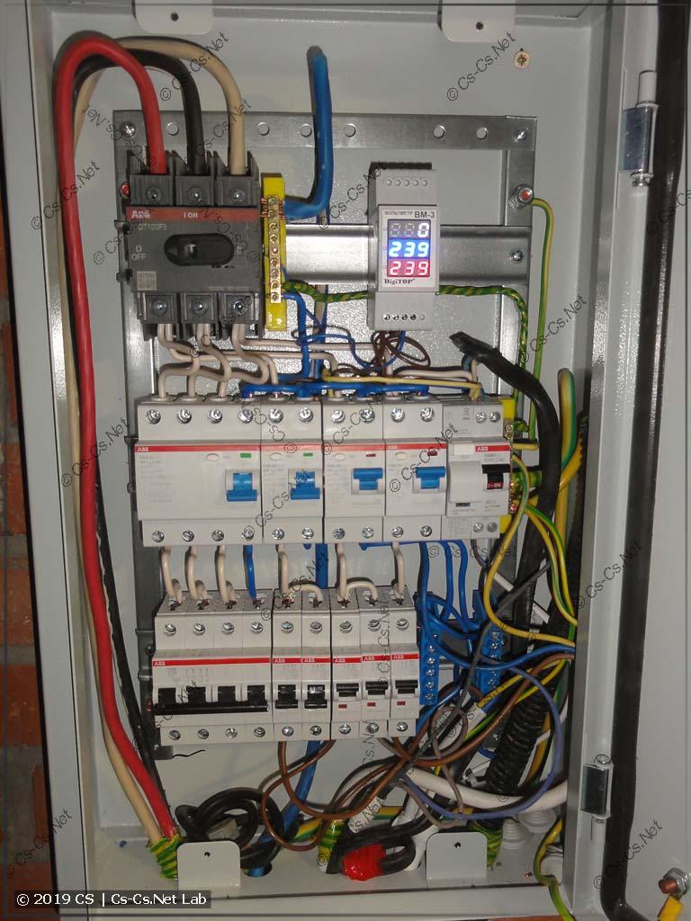 Странный вводной щиток на вводном кабеле