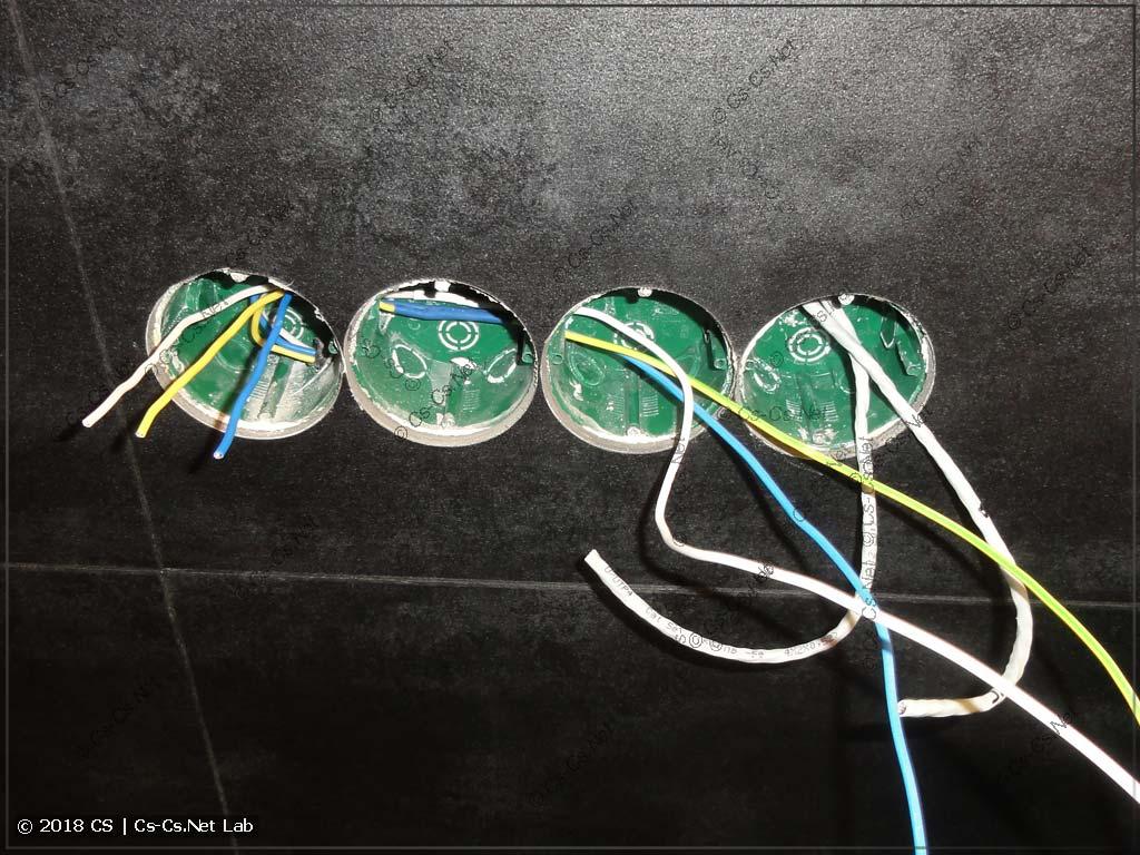 Пришлось наращивать провода гильзами