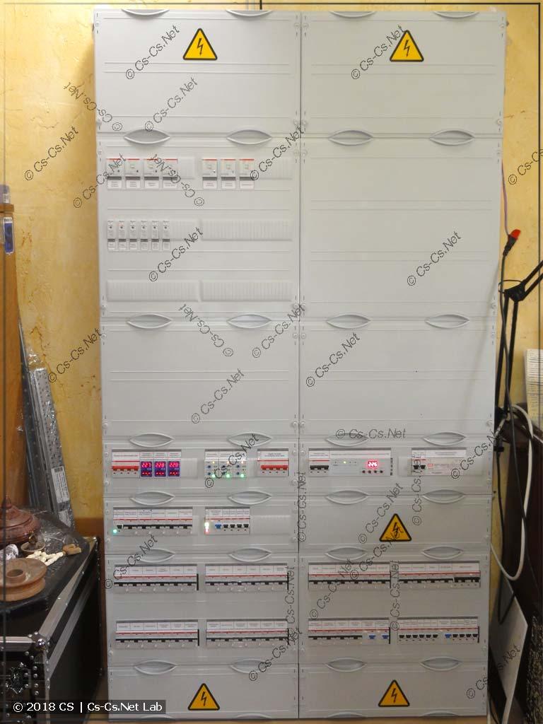 Щит на ПЛК ОВЕН для квартиры (автоматика света, отопления, розеток и техники, штор)