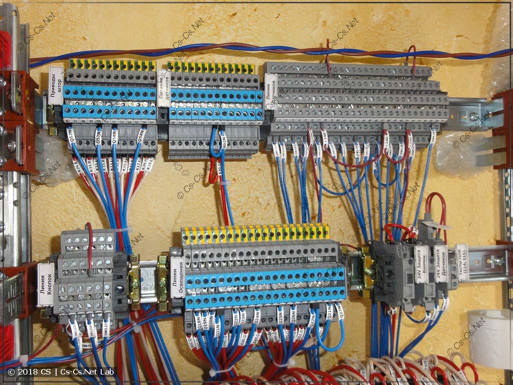 Клеммы для подключения кабелей, другая часть (их много из-за ошибки проектирования)