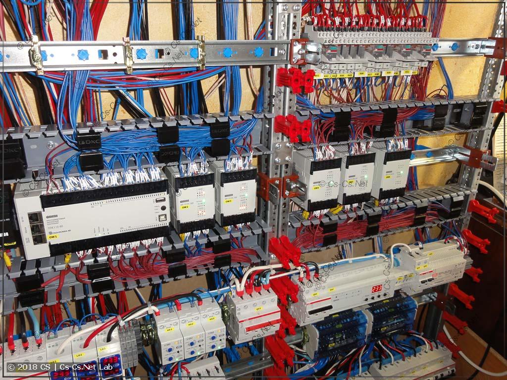 А потом разводим все линии IO по ПЛК и модулям на исполнительные элементы