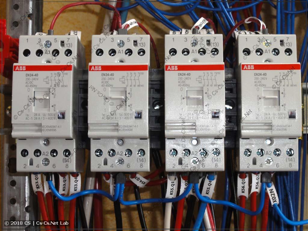 Контакторы ABB EN с ручным управлением для силовых цепей (розетки, техника)