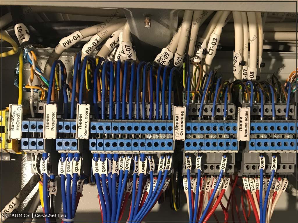 Заказчик подключает кабели к щиту (фотки процесса)