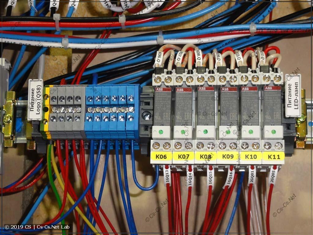 Обязательные кросс-модули из клемм для того, чтобы раздавать питание автоматики внутри щита