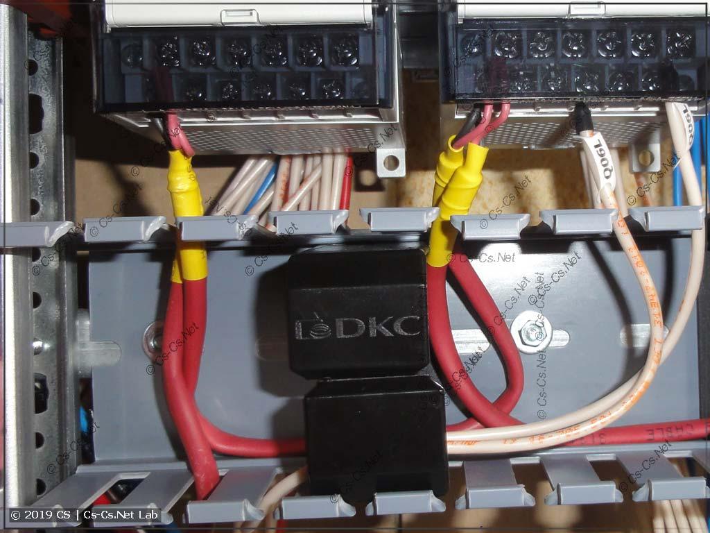 Пример соединения RS-485 кабелем J(ST)Y