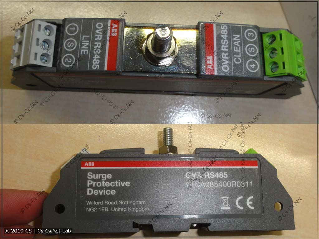 УЗИП от ABB для линий RS-485 в промышленных сетях на DIN-рейку (7TCA085400R0311)