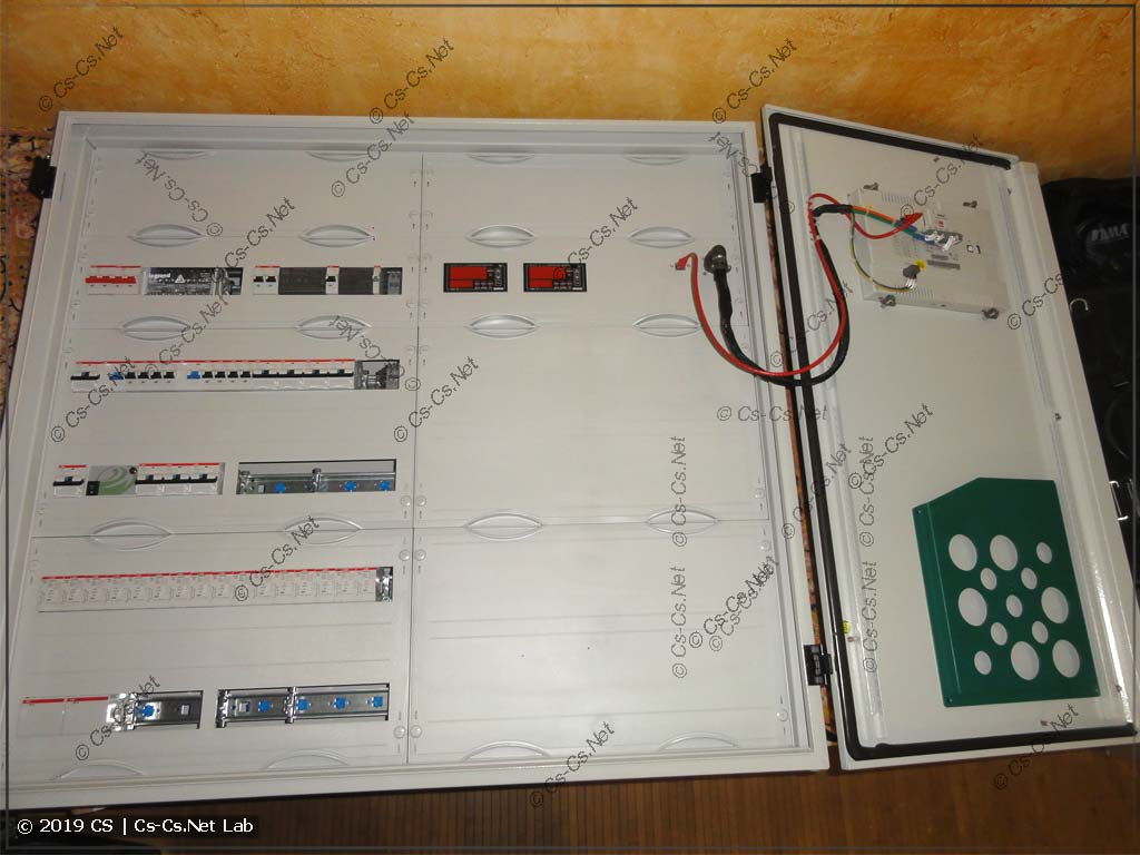 Щит автоматики котельной для коттеджа в Папушево (на ОВЕН СПК110)