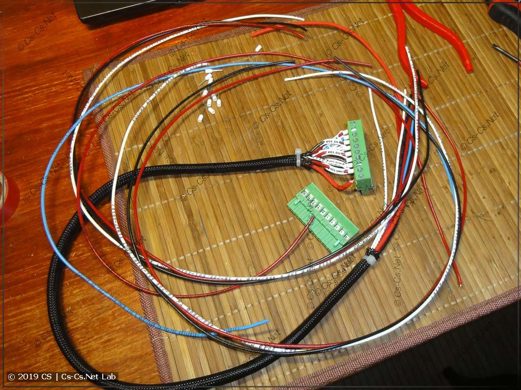 Начинаем делать шлейфы для пластронов (КМС и СПК110)