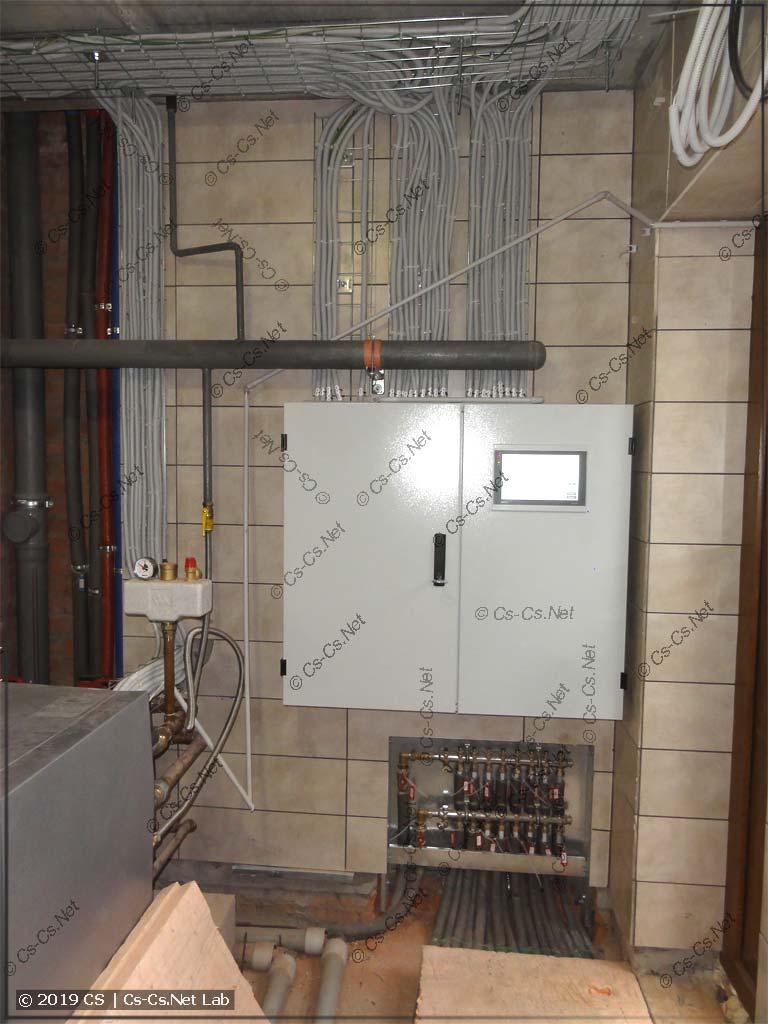 Щит котельной в Папушево на СПК110 смонтирован и работает