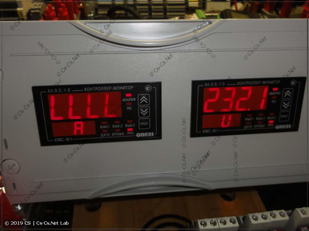 Монитор сети ОВЕН КМС-Ф1 отображает слишким низкий ток
