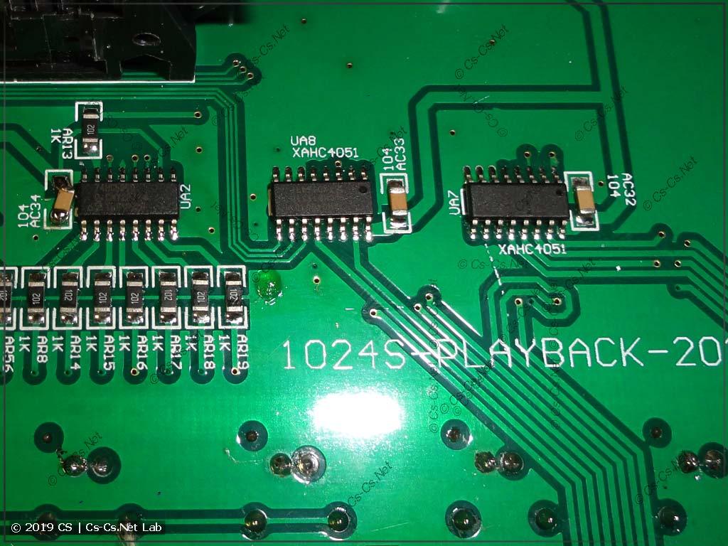 Аналоговые коммутаторы CD4051 для подачи сигналов с фейдеров на АЦП