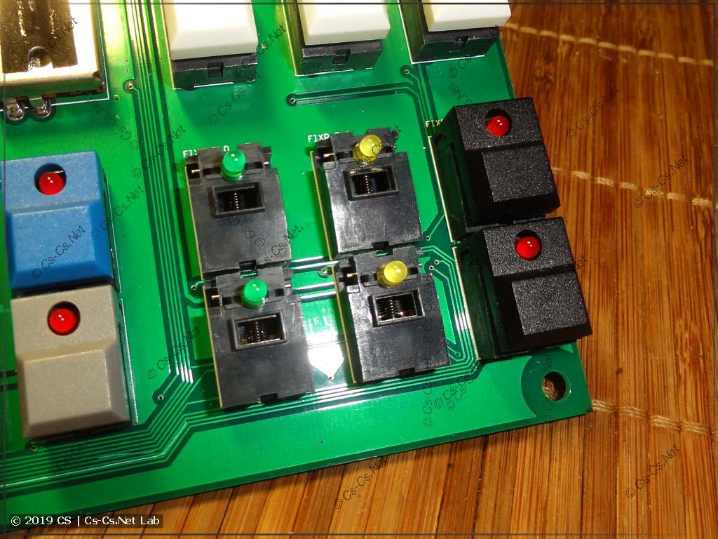 Новые светодиоды на кнопках выбора страниц (приборов или паллет)