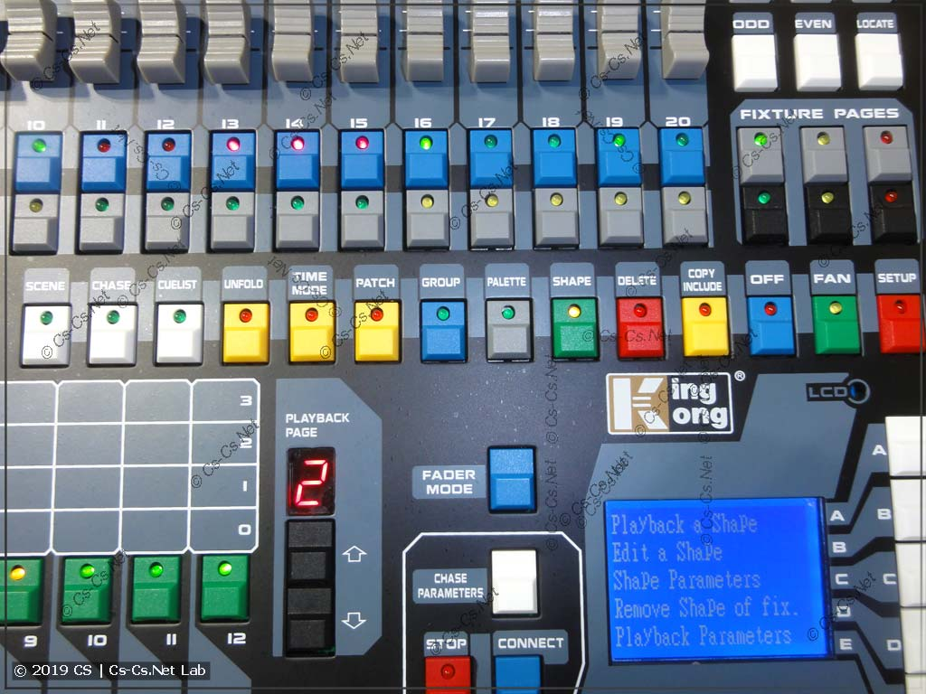 Переделанные цвета системных кнопок пульта King King 1024s