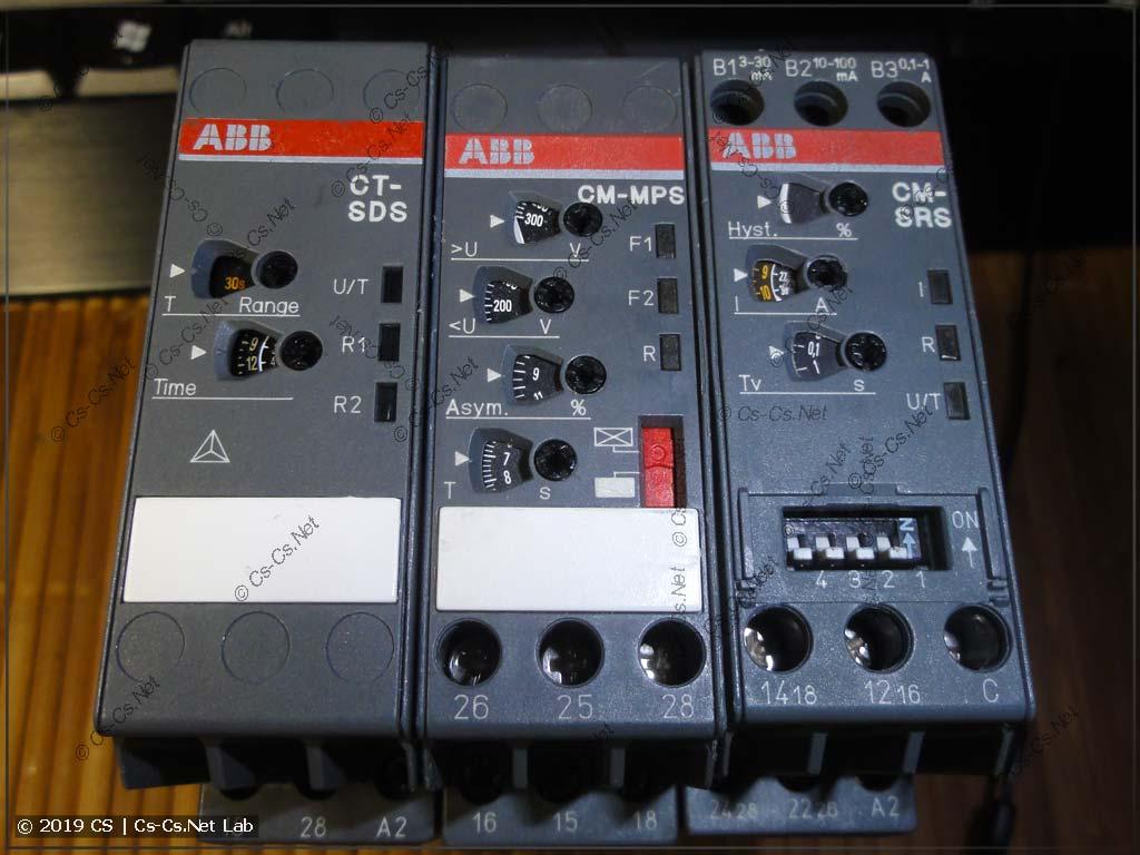 Промышленная серия разных реле от ABB