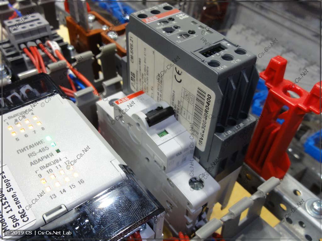 Сравнение размеров промышленных реле ABB и обычной модульки на DIN-рейку