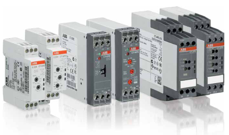 Сравнительные размеры промышленных реле ABB новой серии и обычной модульки (фотка из каталога)