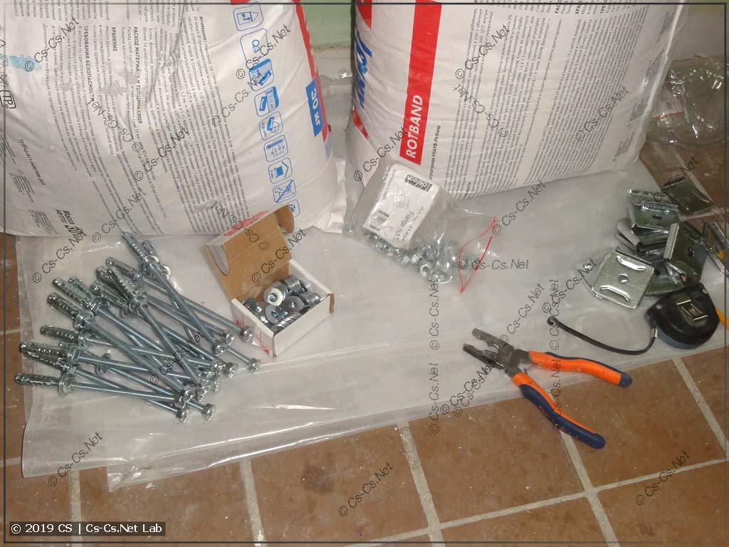 Заготовки для монтажа лотков (анкера, шпильки, гайки, шайбы)