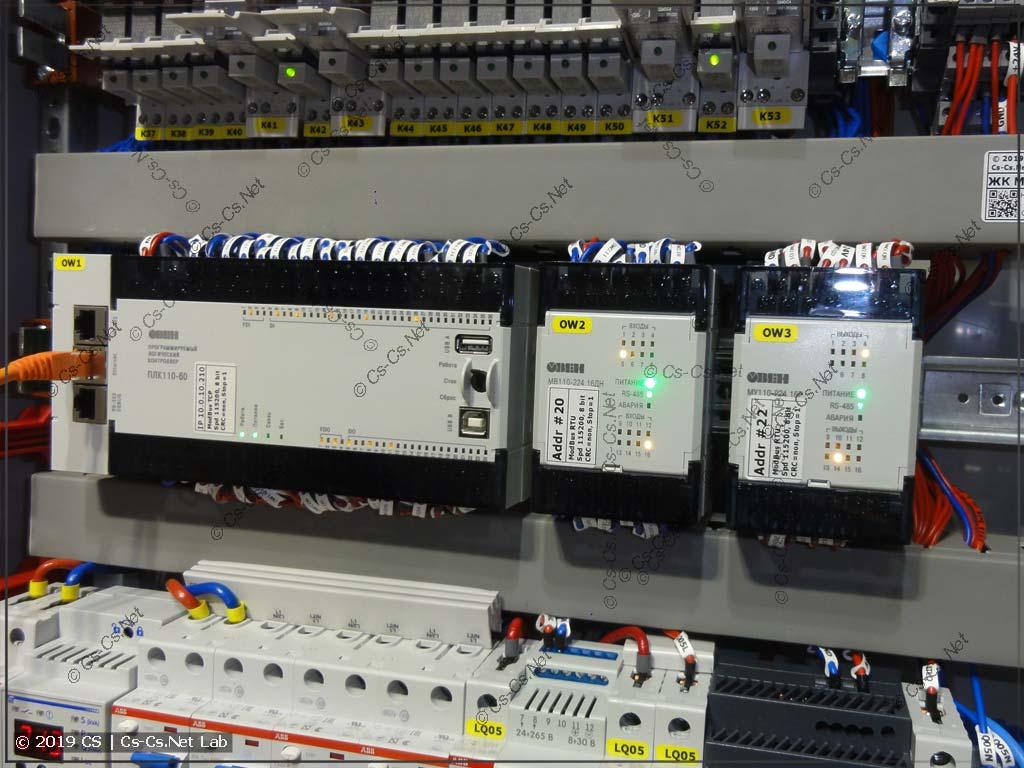 ПЛК 110 от ОВЕН - сердце автоматики щита со сценами света как KNX